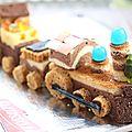 Le gâteau d'anniversaire petit-train (gâteau école facile sans cuisson)