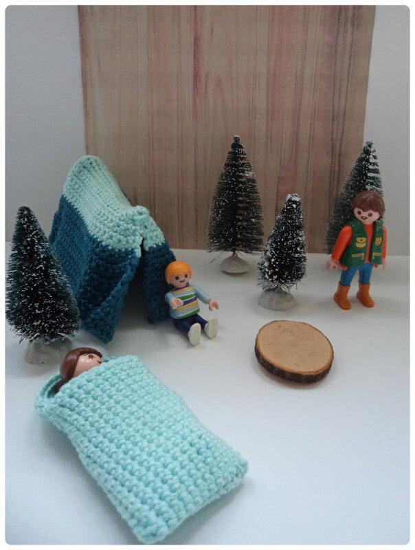 Camping playmobil au crochet Cam&Drey bricolent
