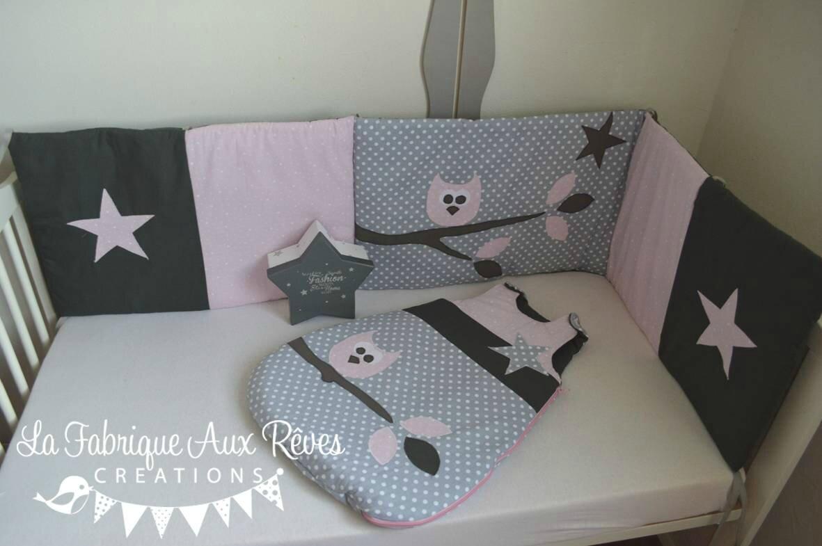 Tour de lit bebe rose gris - Idées de tricot gratuit
