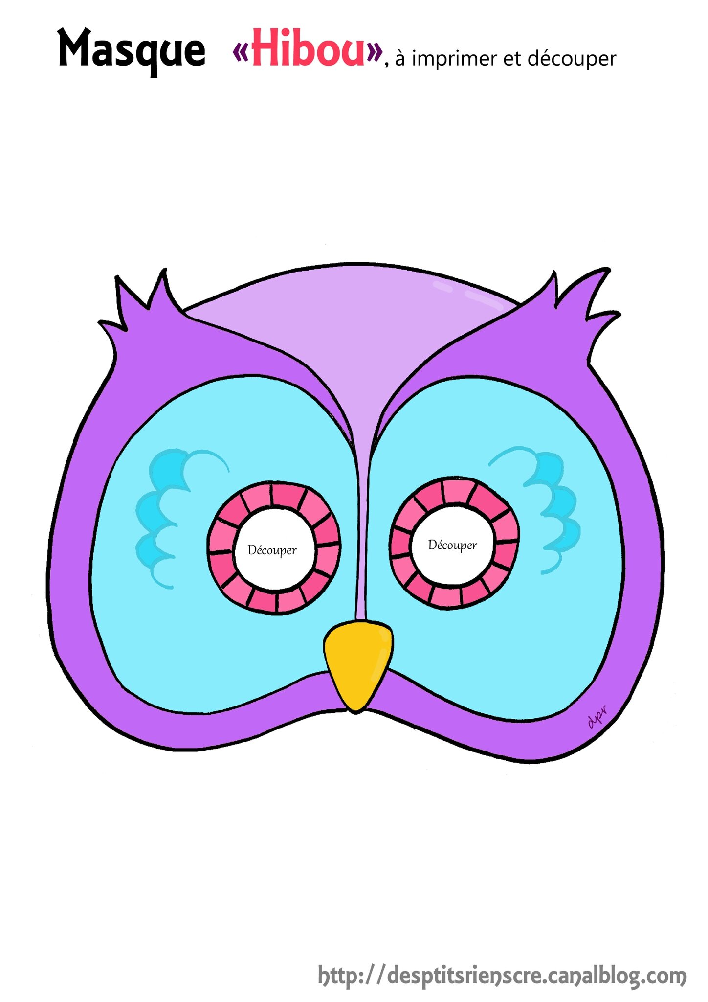 masque hibou copie1 copie copie