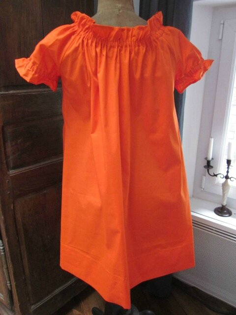 Robe ALBANE en coton orange (1)