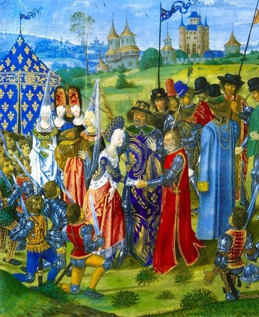 mariage Chaterine de Valois et Henri V en 1520