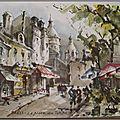 Aqua pictura - Paris - La place du Tertre