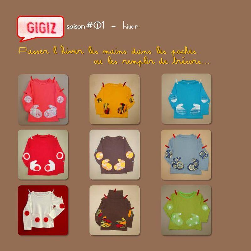 GIGIZ_saison 1_tshirts poches