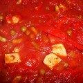 Tofu à la tomate