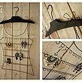 Porte boucles d'oreilles fil de fer (3)