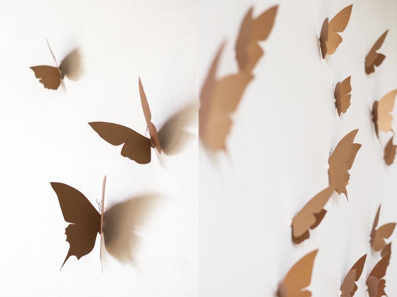 Envolée de papillons decoration murale trendylittle6