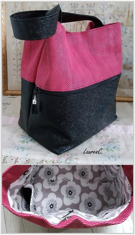 SAC SIMILI BUBBLES ROSE NOIR GROUPE