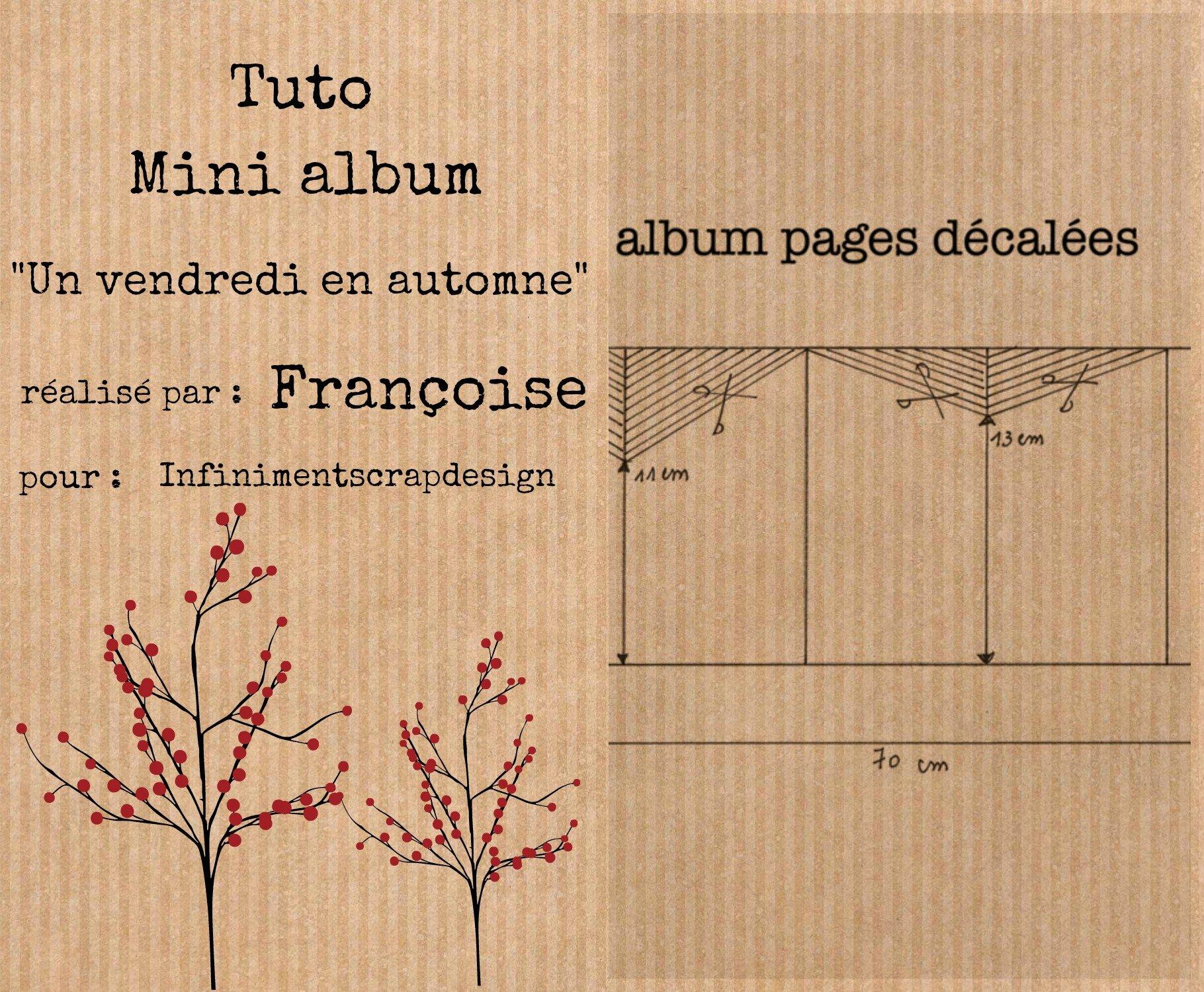 Tuto mini album automne