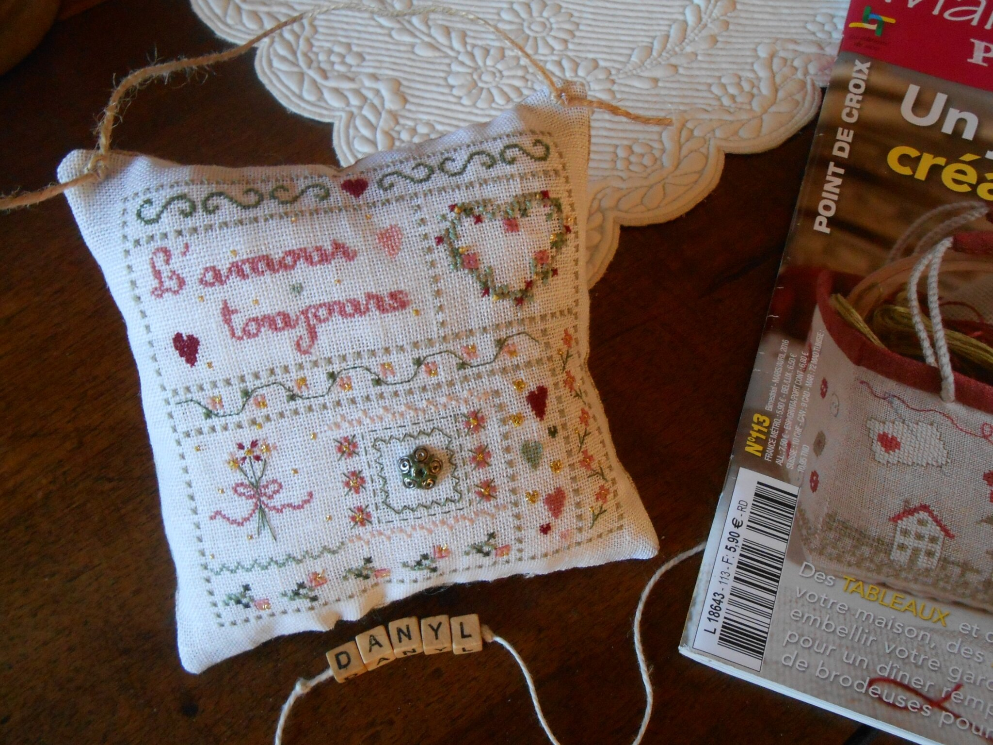 coussin l'amour toujours 2