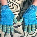 Des gants à 2 aiguilles avec tuto