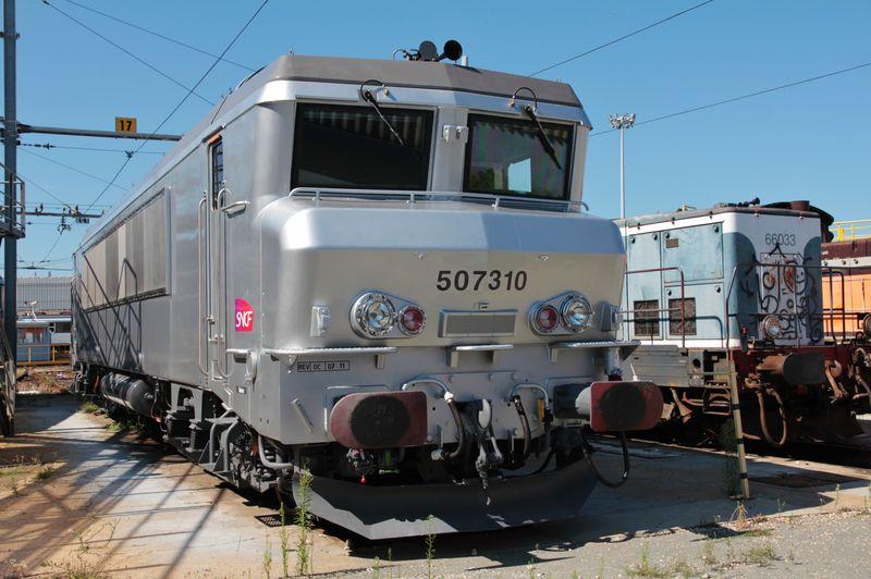 BB 7310 neuve fantôme, dépôt de Bordeaux