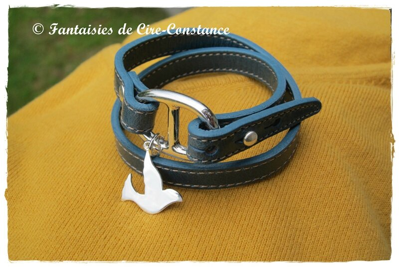 Belle Ile bleu Colombe argent