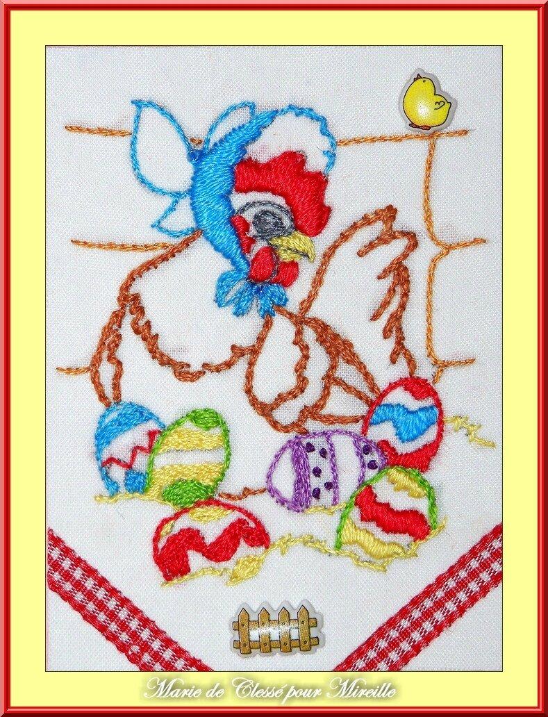 Echange ATC [Poule et œuf] Chez Malina Marie de Clessé pour Mireille 1