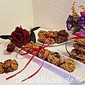 Cookies aux fruits secs torréfiés, à la nougatine et aux pépites de chocolat