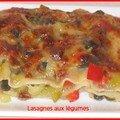 Lasagnes aux petits legumes