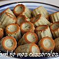 Minis-cannelés au roquefort et noisettes