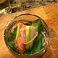 Verrines saumon-pomme