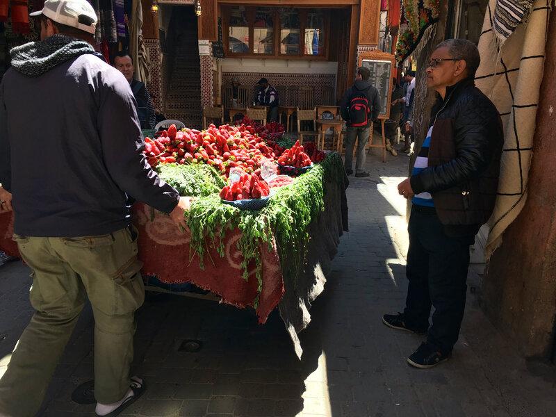 Oh le joli chariot de fraises