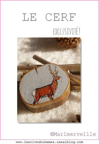 Le cerf Noël au bois ©Marimerveille