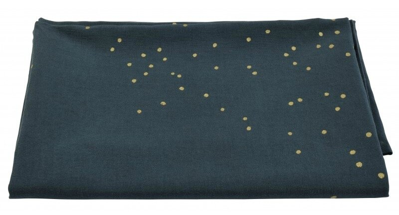 nappe gris anthracite pois or