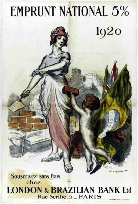 Affiche 1920 emprunt Meunier Georges