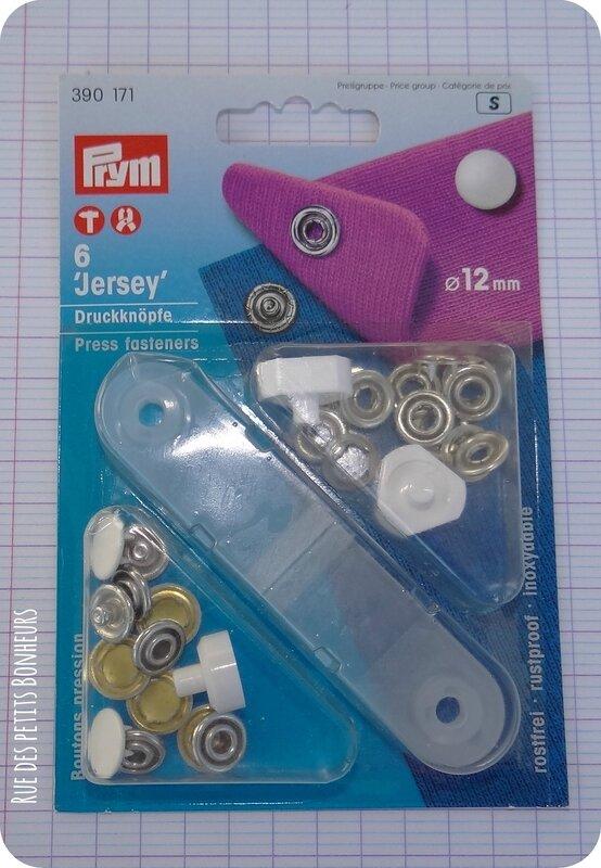 Bouton pression blanc 12 mm