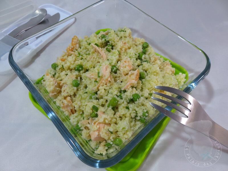 Taboulé saumon et concombre