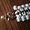 Bracelet blanc (puca)