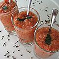 Gaspacho de tomates aux épices