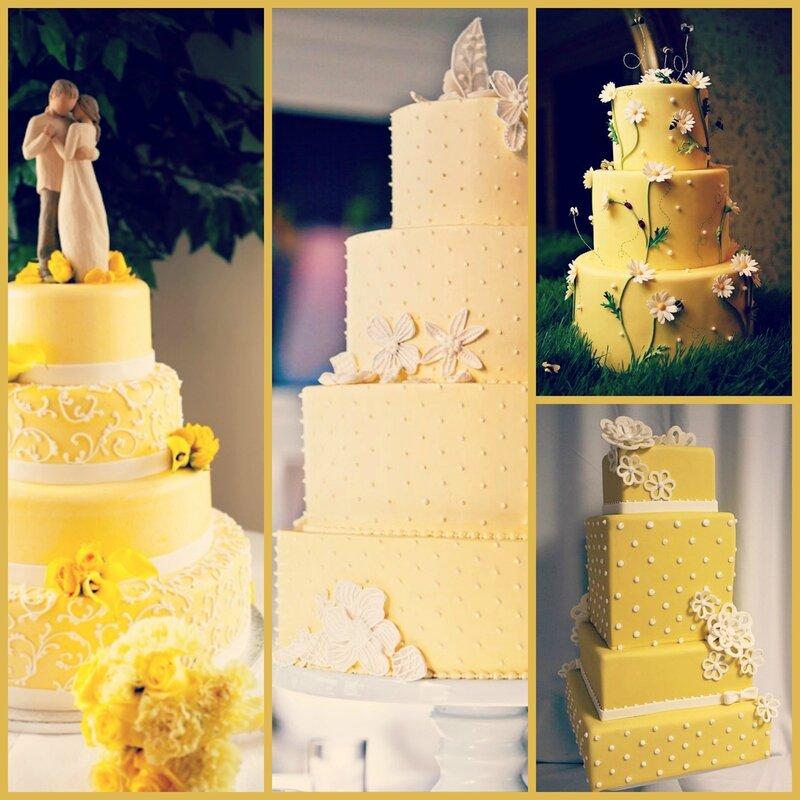 WEDDING CAKE JAUNE MARIAGE