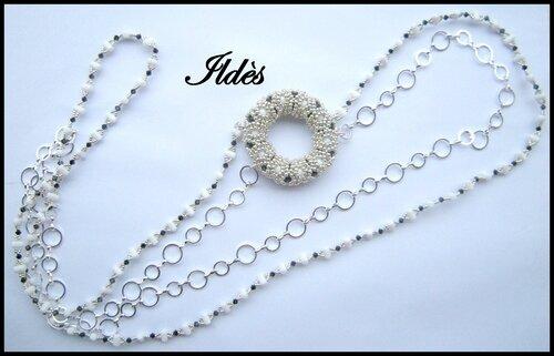 collier cupidon leandro blanc 1