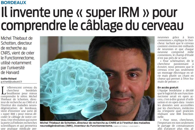 2021 10 12 SO Bordeaux Il invente une super IRM pour comprendre le cablage du cerveau
