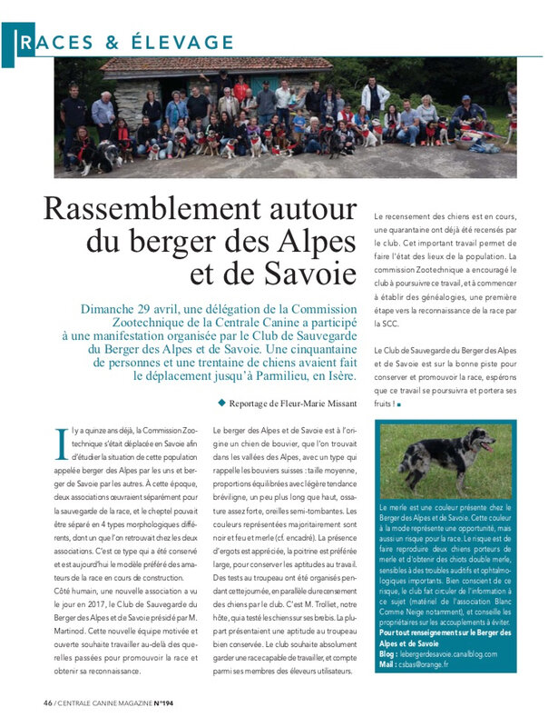 Article Centrale magazine N° 194