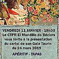 Béziers, présentation du cartel du ctpr mundillo
