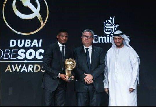 eto'o récompensé à Dubaï