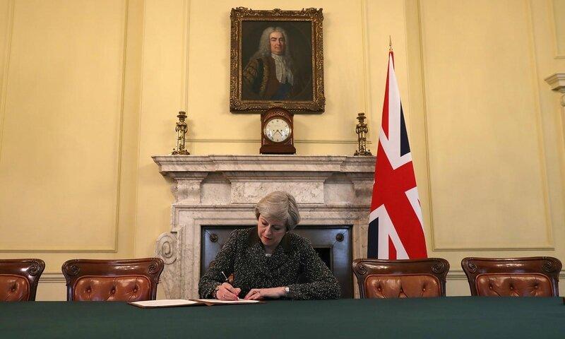 La photo qui marque le coup d'envoi du Brexit