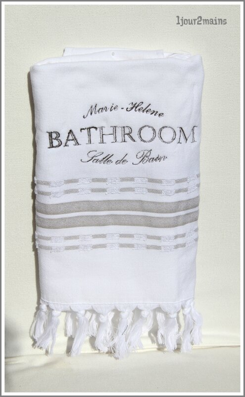 serviette bain bathroom marie helene