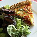 Tarte au thon, tomates et au chèvre