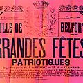 Les grandes fêtes patriotiques de 1919 à belfort, la journée du samedi 16 août (7e partie)
