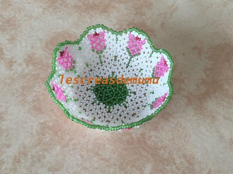 Mini coupelle fleurs : créa perso