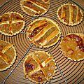 Tartelettes à la compote provençale, pâte brisée