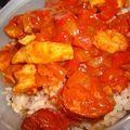 Sauce piquante aux poivrons, chorizo et poulet