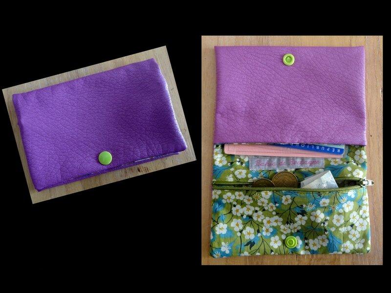 Montage Simili cuir violet