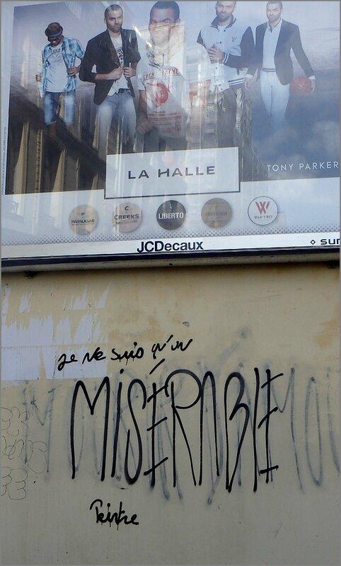 Graffiti Paris avril 2014 14 miserable peintre pub