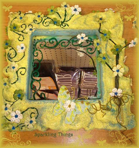 des cadres et des miroirs atelier sparkling things. Black Bedroom Furniture Sets. Home Design Ideas