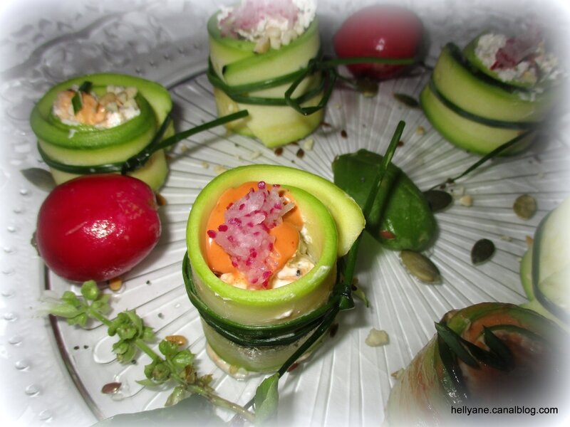 roulés courgette/fromage