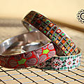 Bracelets rigides multicolors