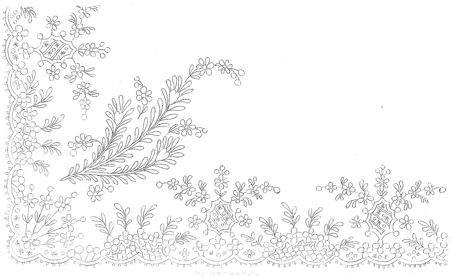 1812 Regency Needlework Pattern 7 July 1812
