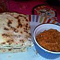 Cheese naan et dhal makani